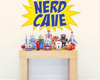 Nerd Cave Comic Book Burst Wall Decal #51751