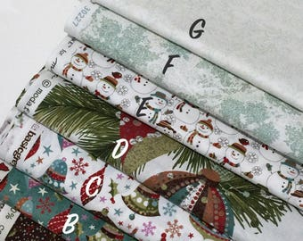 "Basic Grey ""Fruitcake"" Fabric From Moda, Christmas-Theme Fabric, Quilting Cotton Fabric"