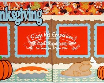Scrapbook Page Kit Fall Thanksgiving Boy Girl 2 page Scrapbook Layout Kit 42