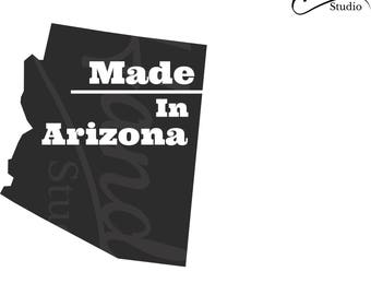 Made in Arizona: Digital SVG graphics package Instant Download!