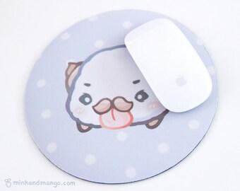 Mustache Poro Mousepad (Circle)