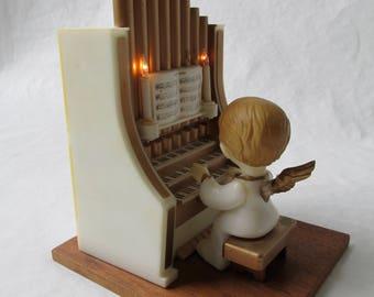 8 bit Christmas, Electronic music box, Angel at Organ, Battery powered Angel, Christmas tune medley, Electronic angel, 1980's kitsch,