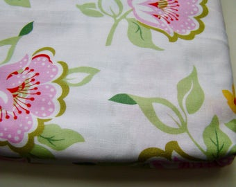 Heather Bailey Nicey Jane Church Flowers Pink Fabric OOP Half Yard