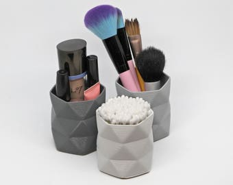 Makeup Organiser Pot / Cosmetics Tidy / Beauty Product Storage - 3D Printed