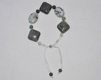 Bracelet to be knotted gemstone, 925 sterling silver