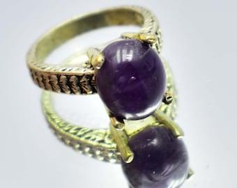 28.55Ct Certified US Size-7 Fantastic Purple Amethyst Ring Gems 925 Sterling Silver AU5065