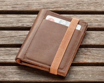 Brown Leather Wallet, Mens Wallet, Leather Wallet, Mens Billfold Wallet