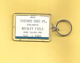 1985 Chicago Cubs Ticket/Schedule  Plastic Keychain