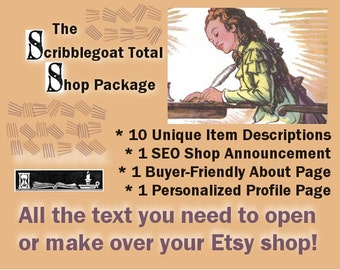 Complete Shop Text - Professionally Written for Your Etsy Business or Independent Website