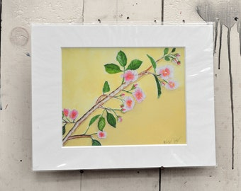 """Apple Blossoms Giclee Print 14x11"""" 100% of the profits go directly to artists with disabilities Item 207 Kevin D."""