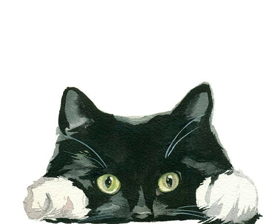 Paintings Of Black Christmas Cats