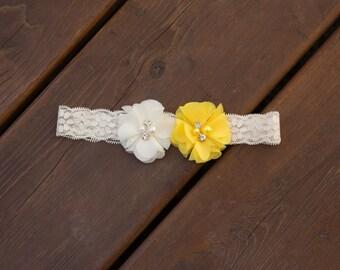 Wedding Garter,Single Bridal Garter, Single Lace Garter,Single,Flower Garter,Chiffon Flower Garter,Lace Wedding Garter,Peach Wedding Garter