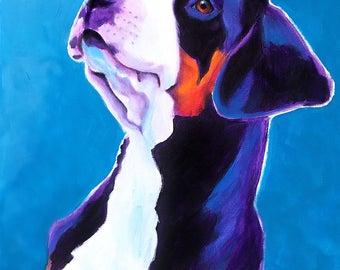 Greater Swiss Mountain Dog, Pet Portrait, DawgArt, Dog Art, Pet Portrait Artist, Colorful Pet Portrait, Swissie Art, Art Prints
