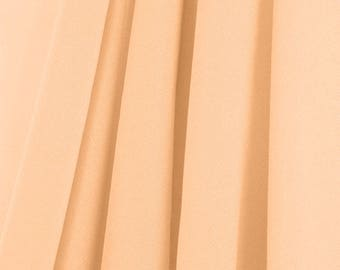 "60"" Wide - High Quality 100% Polyester Chiffon Sheer Fabric - PEACH"