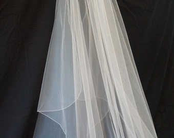 Ashley, Chapel Length Veil, Pencil Edge Veil, Waterfall Veil, Cascade Veil, Bridal Veil, Custom-Made Veil, Made-to-Order Veil