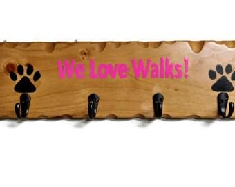 Pet Supplies, Personalized  Dog Leash Holder, Dog Collar Hanger, Dog Leash Hook , Custom Dog Leash Holder, Dog Leash Hanger, Dog Organizer