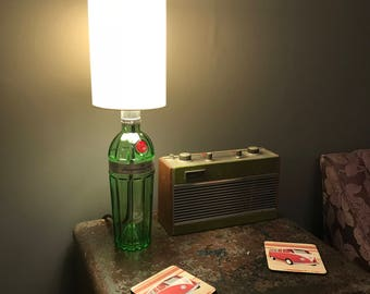 Tanqueray no. TEN Gin bottle lamp, Up Cycled Gin bottle Lamp, Table Lamp, Desk Lamp, Gin Bottle lamp