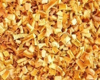 Dried Orange Peel Pieces 1/2 pound - Great for craft projects and holiday decorating