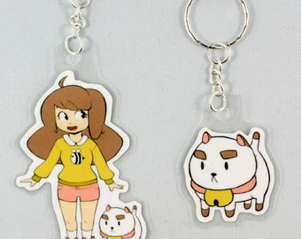 Bee and Puppycat Keychains