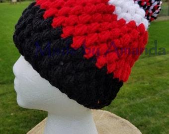 Puffed Slouchy hat / beanie (crochet)
