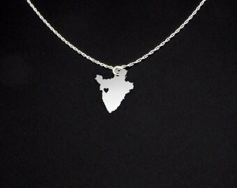 Burundi Necklace - Country Necklace - Burundi Gift - Burundi Jewelry