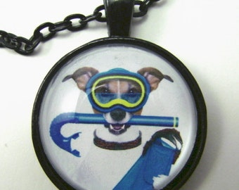 SEASIDE JACK Necklace -- Fun necklace for Jack Russell Terrier lovers and the young at heart