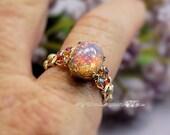 Pink Opal Ring Vintage We...
