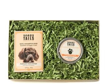 Soapy Tails Shampoo Bar & Pad Balm Gift Set
