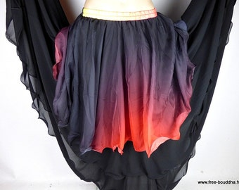 Oriental red black Gypsy jdo3 gypsy dance SKIRT