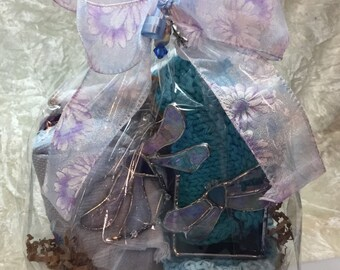 Dragonfly Stained Glass Gift Basket