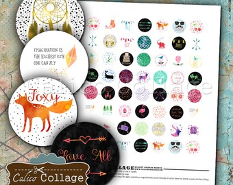 Modern Collage Sheet - 20mm Collage Sheet - Contemporary Images - Printable Craft Sheet - Printable Paper - Jewelry Paper Supply