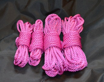 30' Hand Dyed Pink Nylon Rope