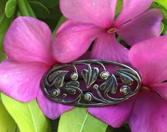 SP18 Vintage Sterling Silver Ivy Leaf Pin