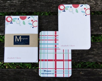 Personalized Notecard Set - Set of 8 - The Elizabeth Note