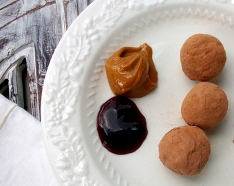 Dark Chocolate Peanut Butter and Grape Jelly Truffles (16 count)