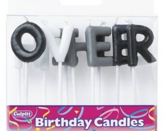 Over The Hill Letter Candles