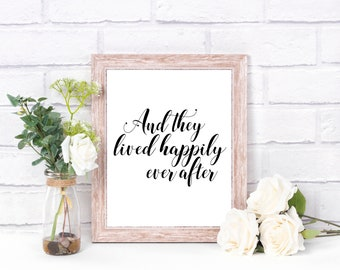 Art Print | And They Lived Happily Ever After | Home Decor