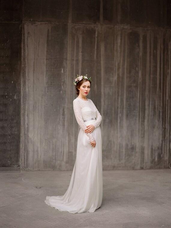 Long sleeve lace wedding dress rufina bohemian long sleeve lace wedding dress rufina bohemian bridal gown rustic wedding dress modest dress corset wedding dress boho milamira junglespirit Images