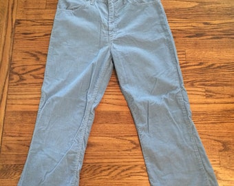 Vintage men's or women's 1970's baby blue jcpenny corduroy pants. Size Large
