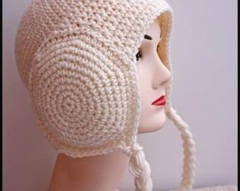 Livraison internationale gratuite modèle - Bonnet en Crochet Leia cache-oreilles-