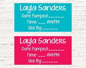 80 Dishwasher-Safe Removable Baby Bottle Labels -  Personalized breast milk labels for daycare - 005