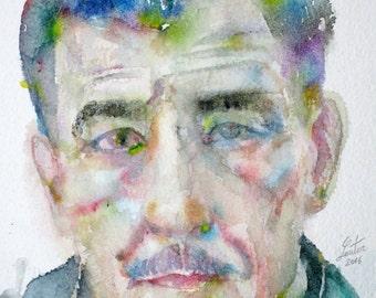 FRANZ KLINE  watercolor portrait - one of a kind!