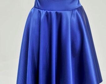 Satin Stretch Royal Skirt ...size 10-12..