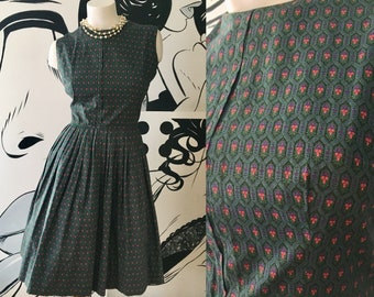 Interlock Hexagon Vintage 1950s Dress