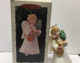 Vintage Hallmark Keepsake Ornament,1996 Keepsake Ornament, Christmas Visitors, LaDene, Christmas Angel, Christkindl,Collectors Series
