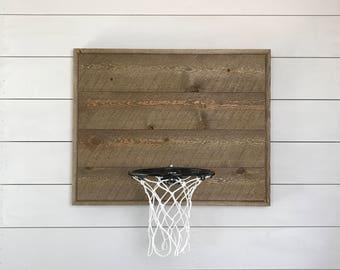 Rustic basketball goal, reclaimed wood goal, basketball ball hoop