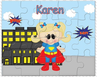 Supergirl Personalized Puzzle, Personalized Supergirl Puzzle, Personalized Kids Puzzle
