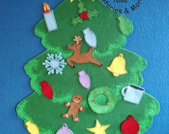 "24"" Tall Felt Christmas Tree, Felt Christmas Tree, Felt Ornaments, Christmas, Daycare, ECE, Toy, Table Task, Felt Board, Felt Christmas Tree"