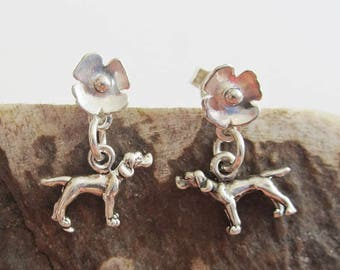 Pointer Poppy Earrings - Sterling Silver Mini - Post Earrings