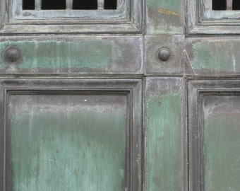 Rustic Buenos Aires Mint Colored Door Photograph